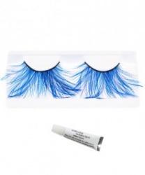 Накладные ресницы с голубыми перьями (без клея)