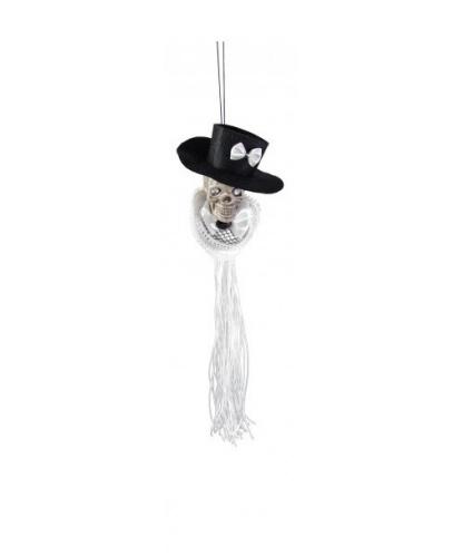 Подвеска Череп в шляпе женский