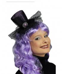 Фиолетовый мини-цилиндр с вуалью