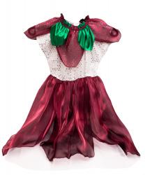 """Платье """"Цветочек"""", бордовое"""