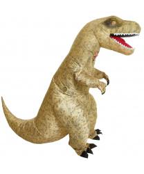 Надувной костюм динозавра T-REX (песочный)