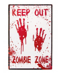 "Баннер на стену ""Keep out Zombie zone"""