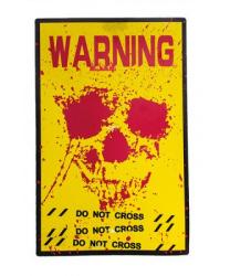 """Баннер на стену """"Warning do not cross"""""""