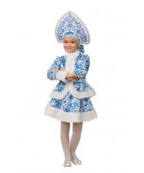Детский костюм Снегурочка Гжель