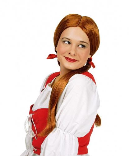 Парик рыжий с хвостиками Girlie: рыжий (Франция)