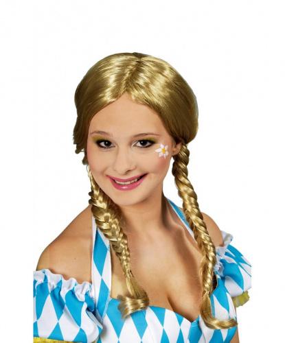 Парик блондинки с косичками Arabella: блондин (Франция)