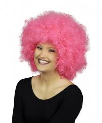 Парик афро, розовый