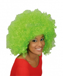 Парик афро, ярко-зеленый