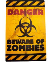 "Баннер на стену ""Danger beware of zombes"""