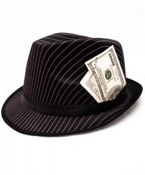 Гангстерская шляпа с банкнотой