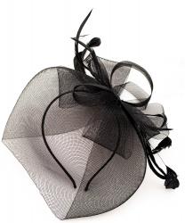 Черная шляпка-ободок