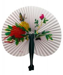 Бумажный веер (красный цветок)