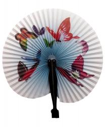 Бумажный веер (бабочки)