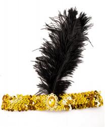 Золотая повязка в стиле 20-х