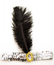 Серебряная повязка в стиле 20-х