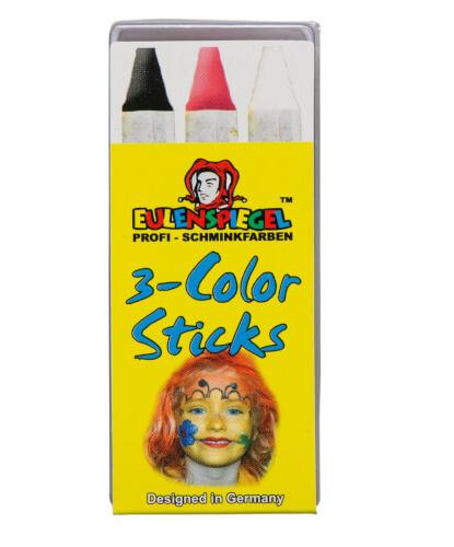 Набор грима, 3 карандаша, 3 цвета: черный, белый, красный (Германия)