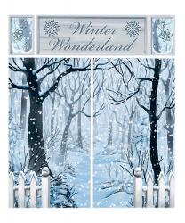 Новогодний баннер на стену - деревья