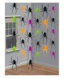 """Декорация на Хэллоуин """"Подвесные, блестящие пауки"""""""