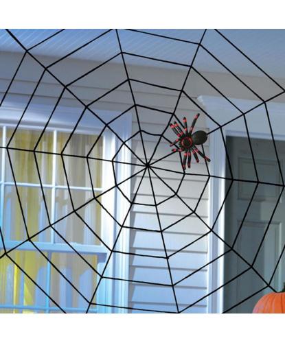 Искусственная паутина 150х150 см, цвет черный (Германия)