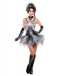 "Платье на Хэллоуин ""Black&Bone"""