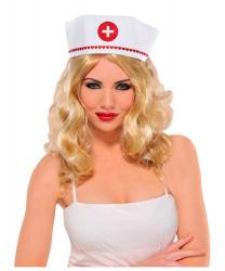 Чепчик медсестры в сердечках