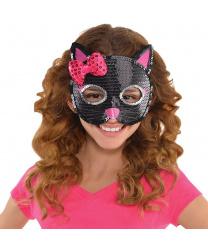 """Детская маска """"Черная кошка"""""""