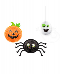 "Подвесная декорация на Хэллоуин ""Тыква, призрак, паучок"""