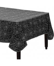 Черная скатерть в паутинку (137 x 243 см)