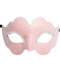 Розовая венецианская маска