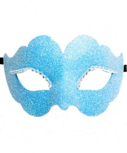 Голубая венецианская маска, папье-маше, стразы (Италия)
