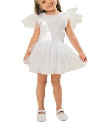 Платье снежинки с диадемой