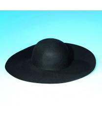 Фетровая шляпа с широкими полями (черная)