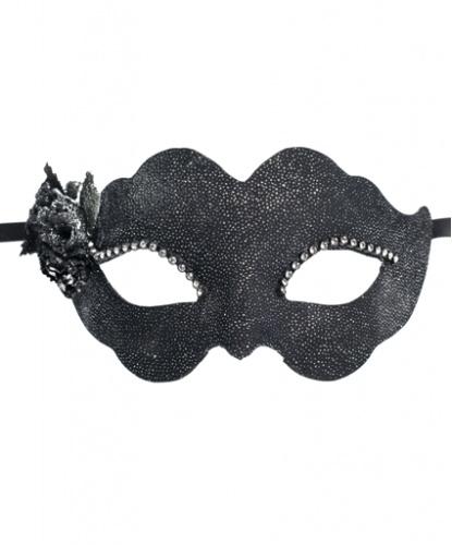 Черная маска Fiore, ткань, пластик, стразы (Италия)