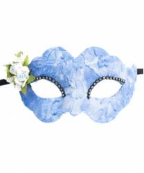 Голубая маска Colombina Fiore