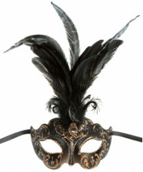 Коричневая маска Colombina Ciuffo