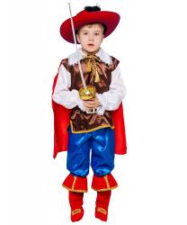 """Детский костюм """"Кот в сапогах"""" (с красной шляпой)"""