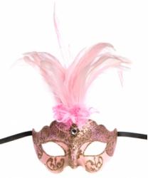 Розовая маска Colombina Ciuffo
