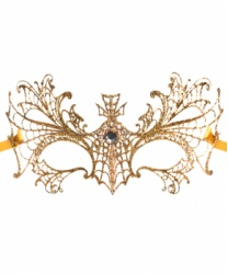 Золотая маска Colombina Ragnatela