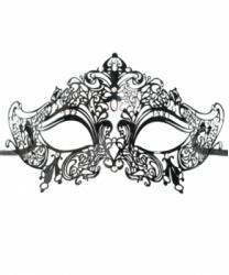 Венецианская черная маска Giglietto, металл, стразы (Италия)