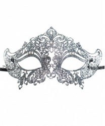 Венецианская маска Giglio, серебро