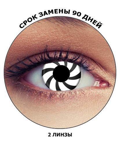 Линзы Оптическая иллюзия, без диоптрий, срок ношения 90 дней (Великобритания)