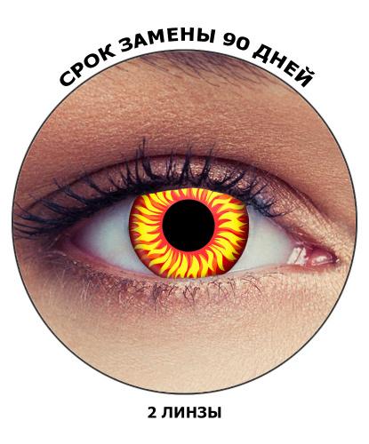 Линзы Волчий глаз, без диоптрий, срок ношения 90 дней (Великобритания)