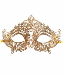Венецианская золотая маска Giglietto, стразы, металл (Италия)