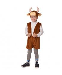 """Детский костюм """"Бычок Рожок, коричневый"""""""