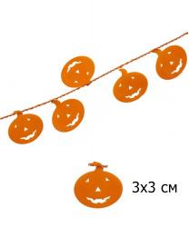 Гирлянда на Хэллоуин (тыквы) 7,6 м.