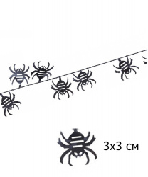 Гирлянда на Хэллоуин (пауки) 7,6 м.
