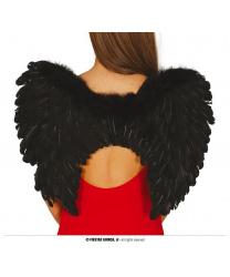 Крылья черные 60х45см