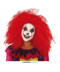 Красный парик клоуна