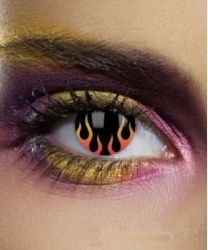 Линзы Адское пламя, без диоптрий, срок ношения 90 дней (Англия)