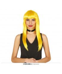 Желтый длинный парик